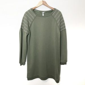 Cable & Gauge NWT Olive Green Sweater Dress Boho M